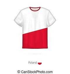T-shirt design with flag of Poland.