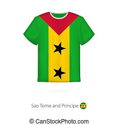 T-shirt design with flag of Sao Tome and Principe. T-shirt...