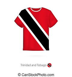 T-shirt design with flag of Trinidad and Tobago. T-shirt vector template.