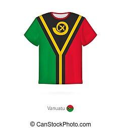T-shirt design with flag of Vanuatu.