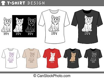 t shirt design with yorkie dog - Illustration of T-Shirt...