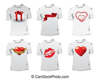 t-shirt, druck, tag, valentines