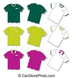t-shirt - three different t-shirt.