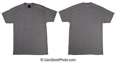 t-shirt, frente, costas