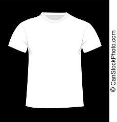 t-shirt, front, template.