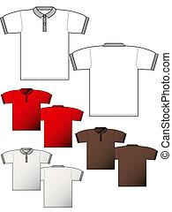 t-shirt, fronte, disposizione, indietro, polo