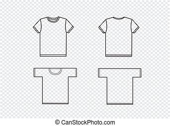 t-shirt, gabarits, conception