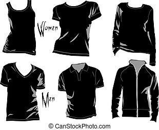 t-shirt, gabarits