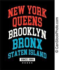 t-shirt, grafisch ontwerp, typografie