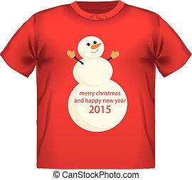 t-shirt, hintergrund., druck, schneeflocke, feurig