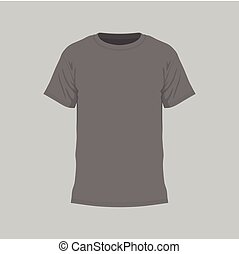 t-shirt, homens, pretas