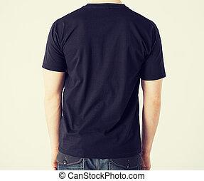 t-shirt, homme, vide