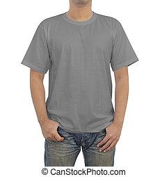 t-shirt, hommes, gris