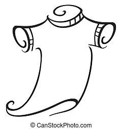 Illustration of t-shirt isolated on white background