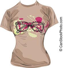 t-shirt, ilustração