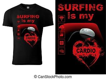 t-shirt, internet, enthusiasts, ontwerp