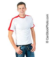 t-shirt, jeune homme