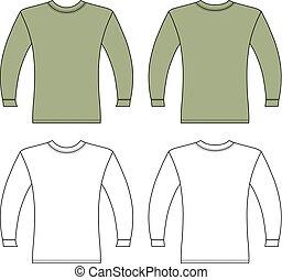 t-shirt, lange mouw