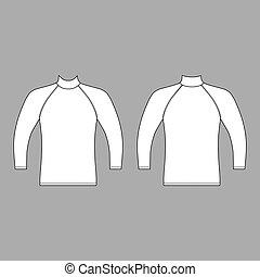 t-shirt, lange mouw, raglan