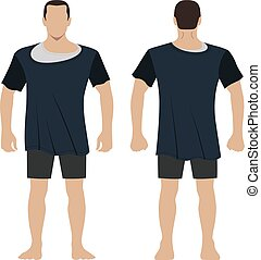 T shirt man body full length template figure - Fashion man...