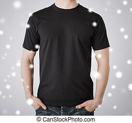 t-shirt, man, leeg