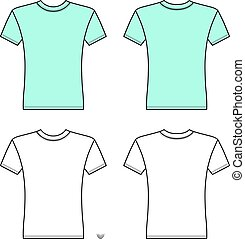T shirt man template (front, back views)
