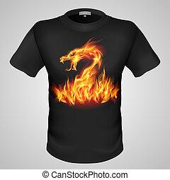 t-shirt, mann, print.