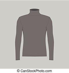t-shirt, mannen, black , lange mouw
