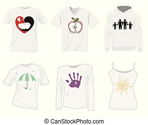 t-shirt, mascherine