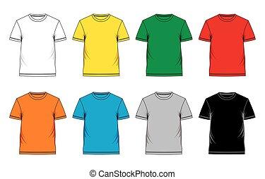 t-shirt, mascherine, uomini