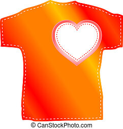 t-shirt, mascherine, valentina, cuore