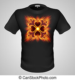 t-shirt, maschio, print.