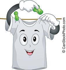 T-shirt Mascot - Mascot Illustration Featuring a T-shirt...