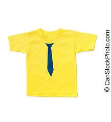 t-shirt, mignon, childrens, jaune