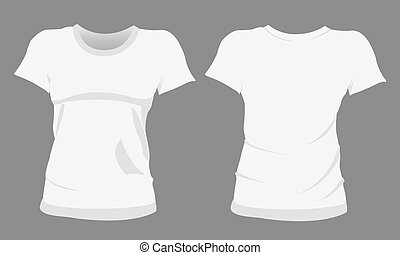 t-shirt, modelos, mulher, desenho