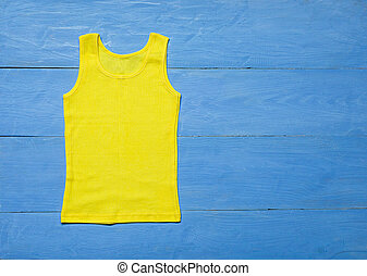 t-shirt on wooden background