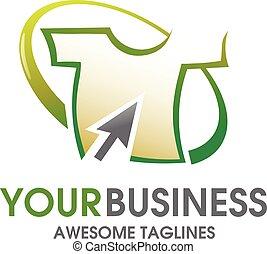 t-shirt online logo - creative concept of t-shirt online...