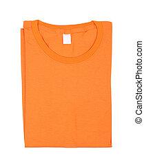 t-shirt, piegato, isolato