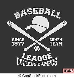 Baseball vintage stamp