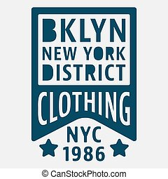 Brooklyn New York vintage stamp