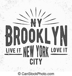 Brooklyn vintage stamp