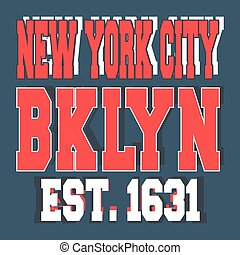 Broolklyn New York vintage stamp