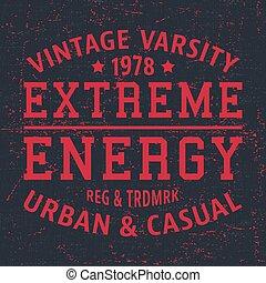 Extreme energy vintage stamp