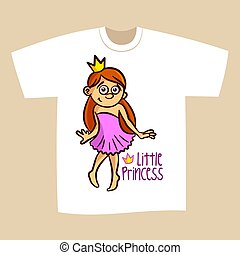 T-shirt Print Design Little Princess