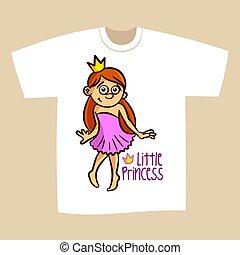 T-shirt Print Design Little Princess