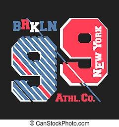 New York Brooklyn vintage t shirt stamp