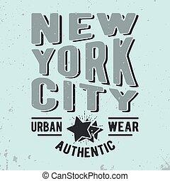 New York City vintage stamp