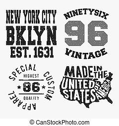 Set of various vintage stamp