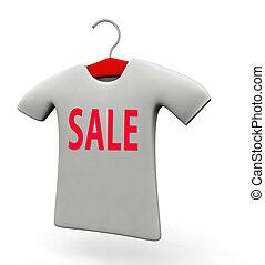 t-shirt, promozione, concetto, vendita, illustrazione