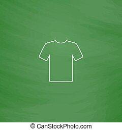 t-shirt, símbolo, computador